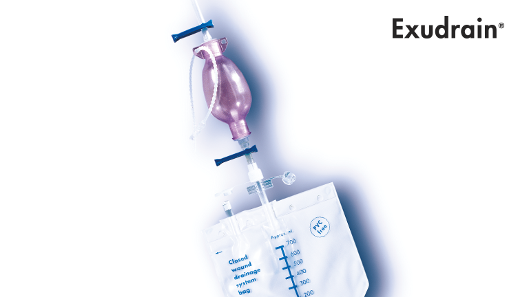 Exudrain wound drainage Wellspect HealthCare